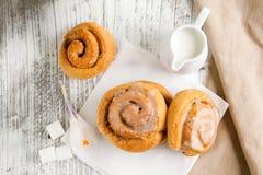 Sweet cinnamon buns Stock Photography