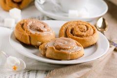 Sweet cinnamon buns Royalty Free Stock Photos