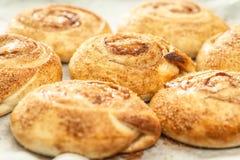 Sweet cinnamon buns. Royalty Free Stock Photo