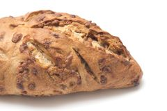 Sweet Cinnamon Chip Loaf. On a White Background Stock Photos