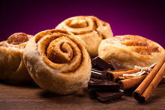 Sweet cinnamon rolls Royalty Free Stock Images