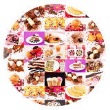 Sweet circle Stock Images