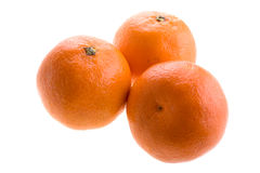 Sweet clementine mandarins Royalty Free Stock Images