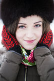 Sweet closeup smile of a young lady Stock Photo