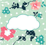 Sweet cloud text box for Your text - vector Stock Photo
