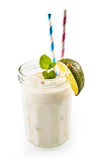 Sweet coconut liquor drink with lime Stock Photo