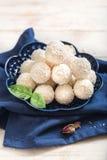 Sweet coconut pralines Stock Photo