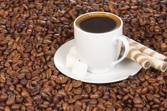 Sweet and coffee Stock Images