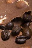 Sweet coffee. Chocolate and coffee combined together Stock Image