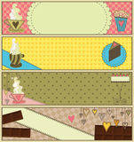Sweet Coffee and Dessert Banners Stock Photo