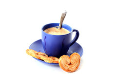 Sweet  coffee with milk Royalty Free Stock Photos