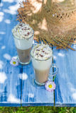 Sweet coffee in sunny day Stock Image