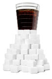 Sweet cola drink ingredient. With sugar cubes Stock Images