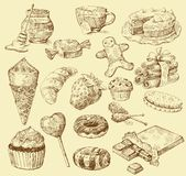 Sweet collection Royalty Free Stock Photo