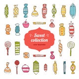 Sweet collection. Sweet and candy collection isolated on white background. Vector illustration hand draw Stock Photo
