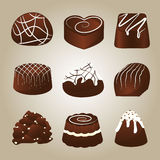 Sweet Collection of Chocolate Truffles Stock Photos