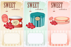 Sweet collection - price labels Stock Photography