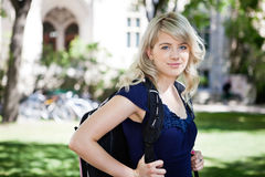 Sweet college girl Stock Photo