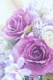 Sweet color artificial roses bouquet Royalty Free Stock Photos