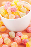 Sweet color candies Stock Photos