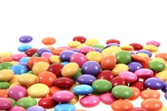 Sweet color candies background Royalty Free Stock Photos