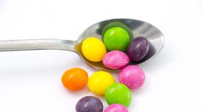 Sweet color candy,fruit taste bonbons Royalty Free Stock Photo