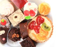 Sweet color desserts Stock Photography