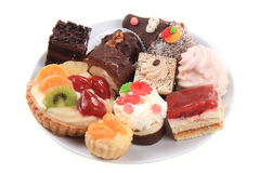Sweet color desserts Stock Images