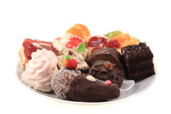 Sweet color desserts Royalty Free Stock Images
