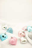Sweet color hearts for Romantic background Royalty Free Stock Photos