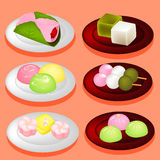 Sweet color Japan dessert. Royalty Free Stock Image