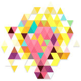 Sweet color object triangles in dot pattern Stock Photography
