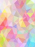 Sweet color triangle and circle texture background Stock Images
