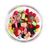 Sweet colorful candy in bowl Royalty Free Stock Photo