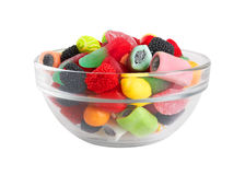 Sweet colorful candy in bowl Stock Image