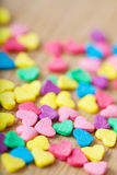 Sweet colorful candy hearts. Background Royalty Free Stock Photo