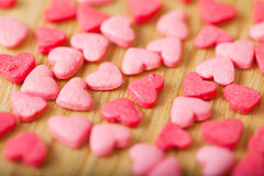 Sweet colorful candy hearts. Background Stock Photography