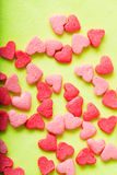 Sweet colorful candy hearts. Background Stock Image
