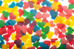 Sweet colorful candy hearts. Background Royalty Free Stock Images