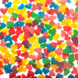 Sweet colorful candy hearts Royalty Free Stock Photos