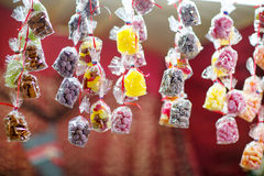 Sweet colorful candy at Nuremberg Christmas Market Royalty Free Stock Photos