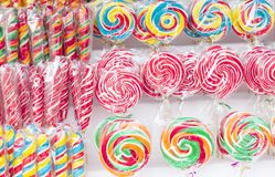 Sweet and colorful candy placed for sale Royalty Free Stock Photo