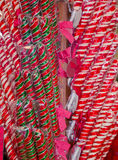 Sweet  colorful candy sticks Stock Image