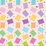 Sweet colorful cookies vector seamless background Royalty Free Stock Photography