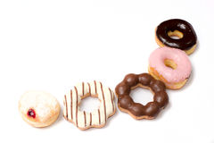 Sweet Colorful delicious donuts Stock Image