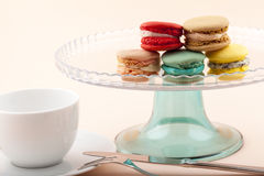 Sweet and colorful French macaroons Stock Photography