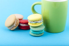 Sweet and colorful French macaroons Royalty Free Stock Photos