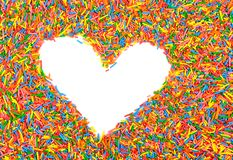 Sweet colorful heart in candies Stock Image