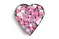 Sweet colorful hearts Stock Photos