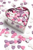 Sweet colorful hearts Stock Photo